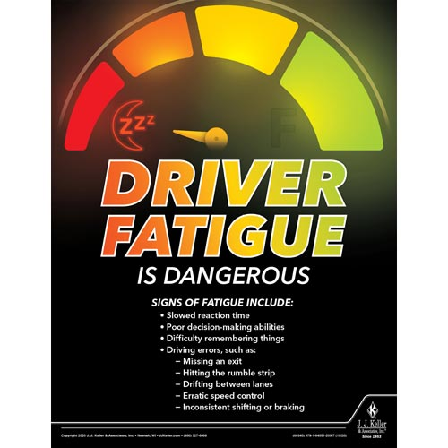 Driver Fatigue Is Dangerous - Transportation Safety Poster (017031)