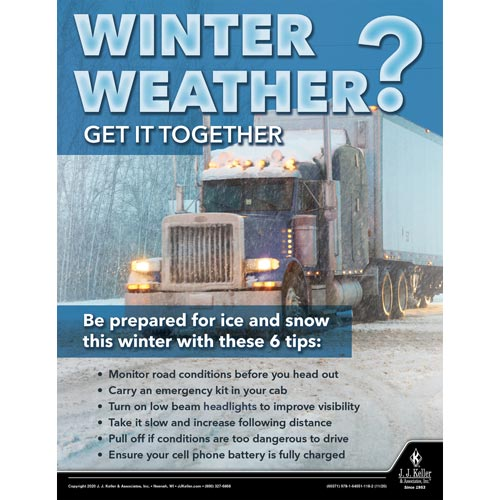 Winter Weather Get It Together - Driver Awareness Safety Poster (017033)