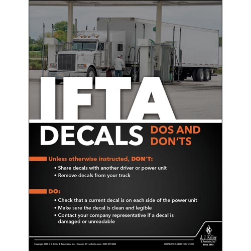 ITFA Decals DOs and Don'ts - Motor Carrier Safety Poster (017034)