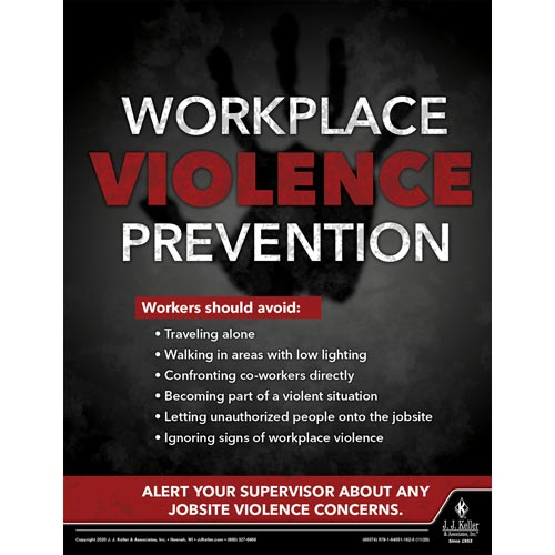Workplace Violence Prevention - Construction Safety Poster (017035)