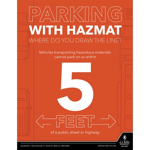 Parking with Hazmat - Hazmat Transportation Poster (017037)