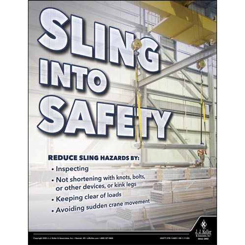 Sling Into Safety - Workplace Safety Training Poster (017111)