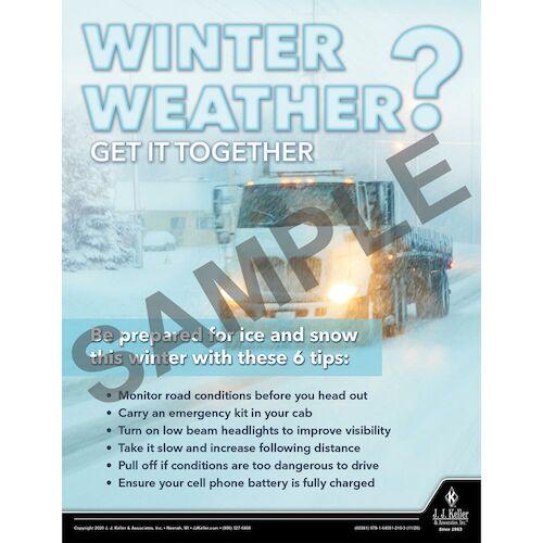 Winter Weather Get it Together - Transportation Safety Poster (017041)