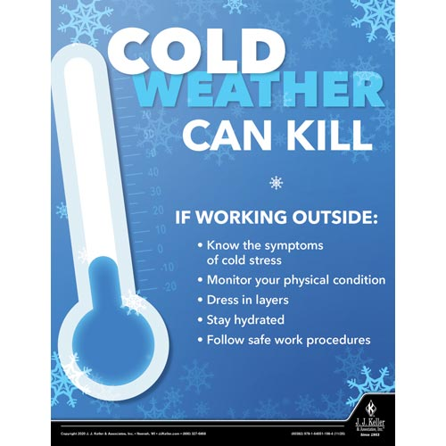 Cold Weather Can Kill - Workplace Safety Training Poster (017042)