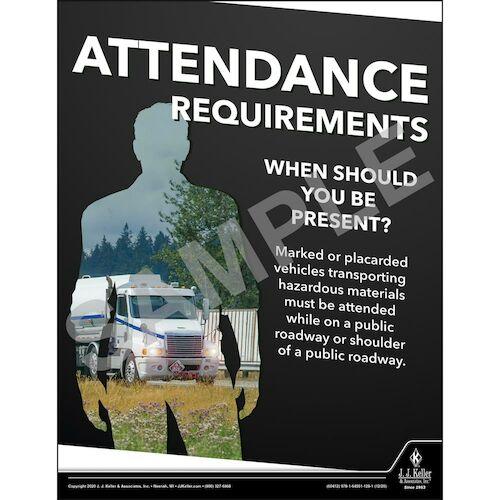 Attendance Requirements - Hazmat Transportation Poster (017047)