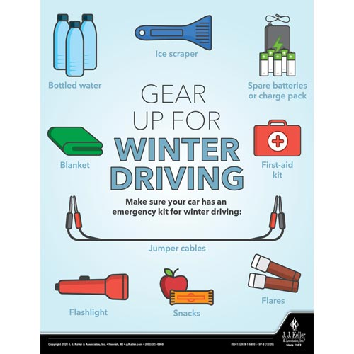 Gear Up For Winter Driving - Workplace Safety Training Poster (017048)