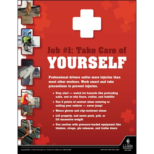 Take Care of Yourself - Motor Carrier Safety Poster (017049)