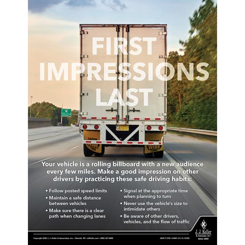 First Impressions Last - Transportation Safety Poster (017052)
