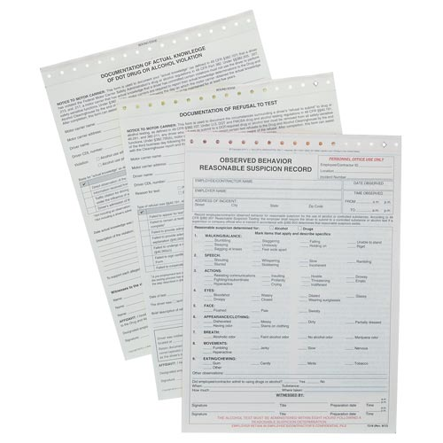 Drug and Alcohol Violation Forms Combo Pack (017063)