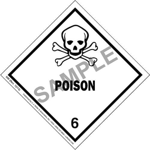 Class 6 Poison Labels (00041)