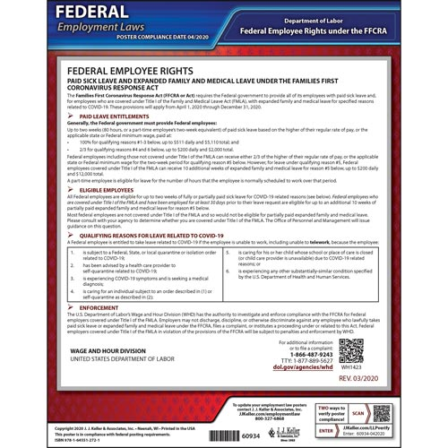 Federal Emergency Paid Sick Leave Poster for Government Employers (017269)