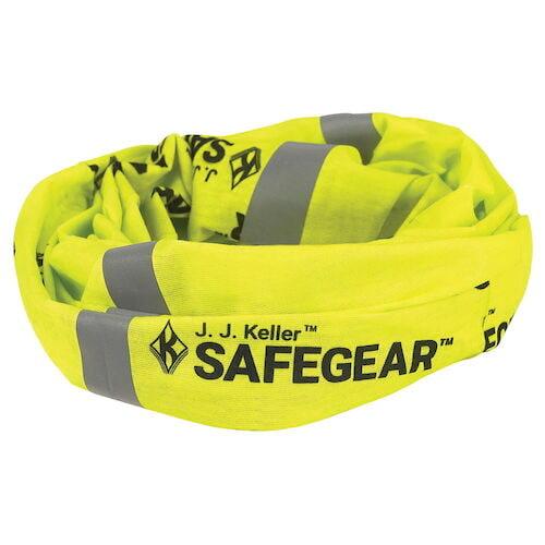 J. J. Keller™ SAFEGEAR™ Yellow Seamless Bandana Buff with Reflective Stripes (017349)
