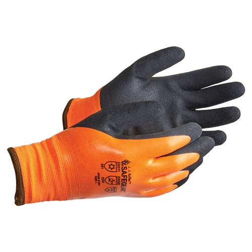 J. J. Keller™ SAFEGEAR™ Thermal Foam Dipped Nitrile Winter Gloves (017472)