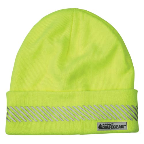 J. J. Keller™ SAFEGEAR™ Hi-Vis Yellow Knit Winter Hat (017474)