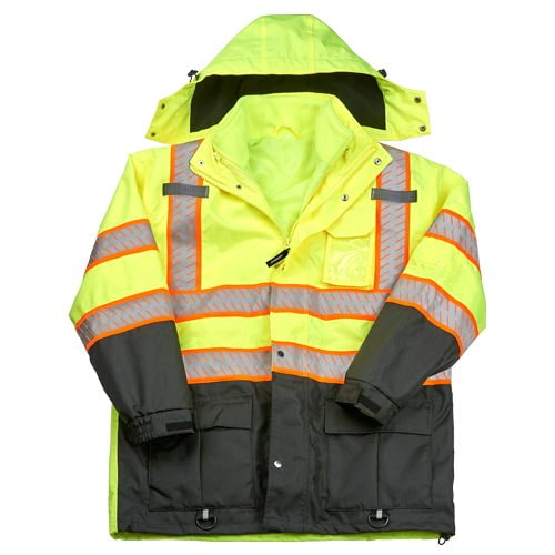J. J. Keller™ SAFEGEAR™ 3-in-1 Removable Fleece-Lined Parka Jacket Type R Class 3 (017477)