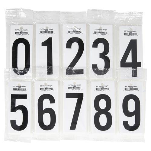 """3.5"""" Vinyl Number Packs – Retail Packaging (017527)"""