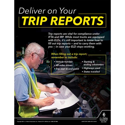 Deliver on Your Trip Reports - Motor Carrier Safety Poster (017669)