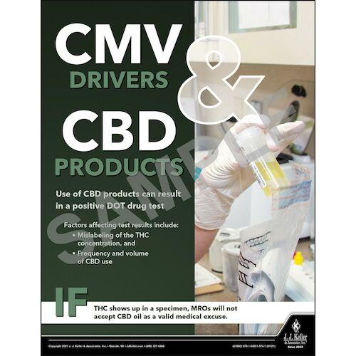 CMV Drivers & CBD Products -Transport Safety Risk Poster (017705)