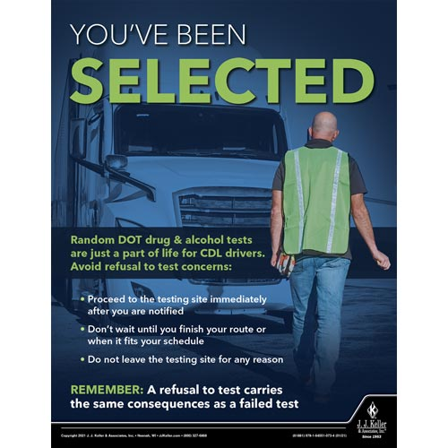 You've Been Selected - Transportation Safety Poster (017693)