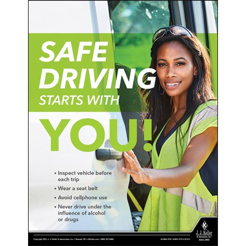 Safe Driving Starts With You - Workplace Safety Training Poster (017717)