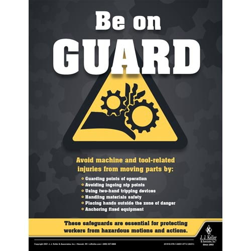 Be on Guard - Construction Safety Poster (017610)