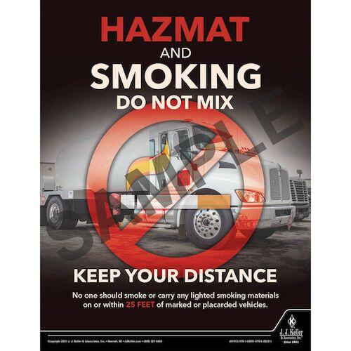 Hazmat and Smoking Do Not Mix - Hazmat Transportation Poster (017646)