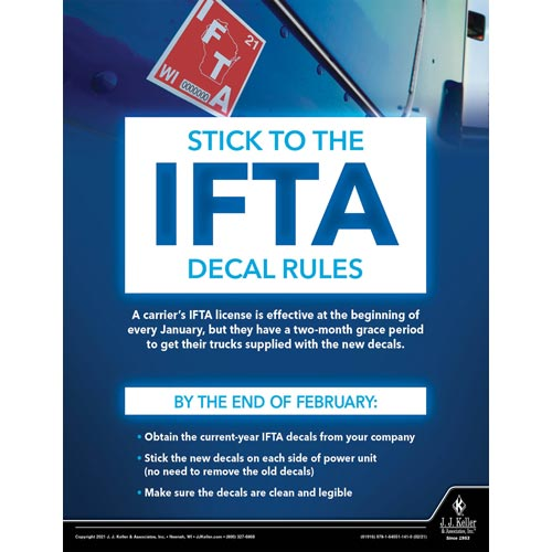 Stick to The IFTA Decal Rules - Motor Carrier Safety Poster (017670)