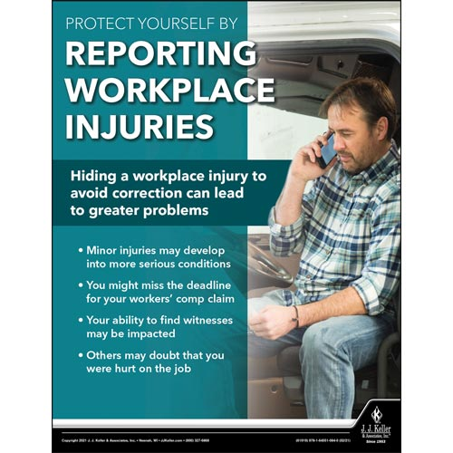 Reporting Workplace Injuries - Transport Safety Risk Poster (017706)