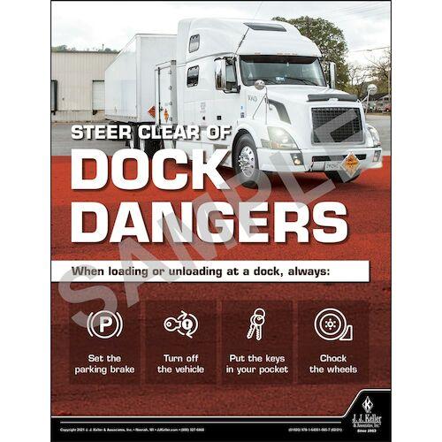 Steer Clear of Dock Dangers - Transportation Safety Poster (017694)