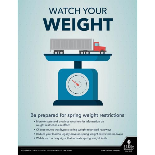 Watch Your Weight - Motor Carrier Safety Poster (017671)