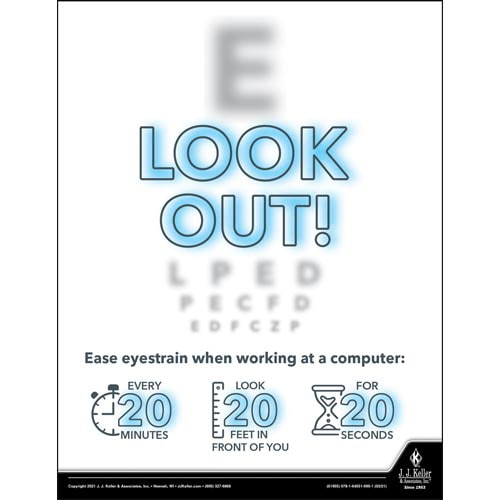 Look Out - Health & Wellness Awareness Poster (017683)
