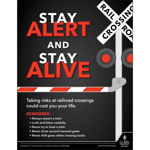 Stay Alert and Stay Alive - Transportation Safety Poster (017695)
