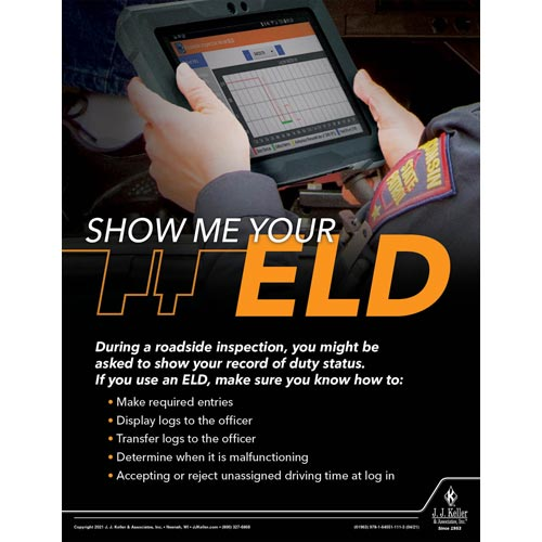 Show Me Your ELD - Driver Awareness Safety Poster (017624)