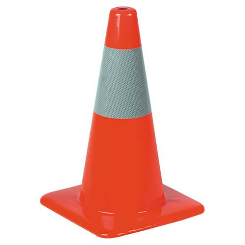"Traffic Cone w/ Reflective Collar - 18"" (01428)"