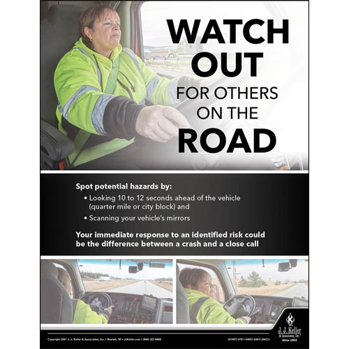 Watch Out For Others On The Road - Transport Safety Risk Poster (017708)