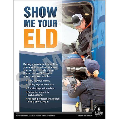 Show Me Your ELD - Transportation Safety Poster (017696)