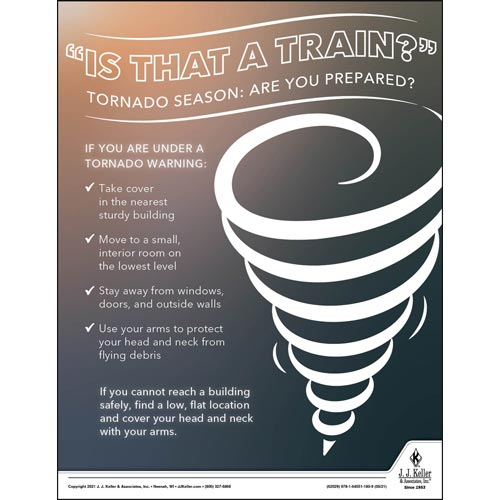 Tornado Season: Are You Prepared - Workplace Safety Training Poster (017601)