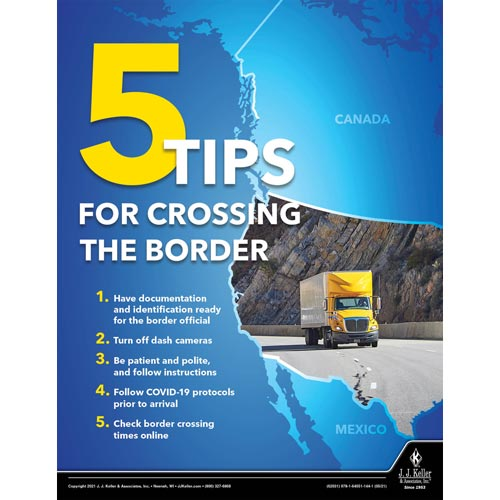 5 Tips For Crossing The Border - Motor Carrier Safety Poster (017673)