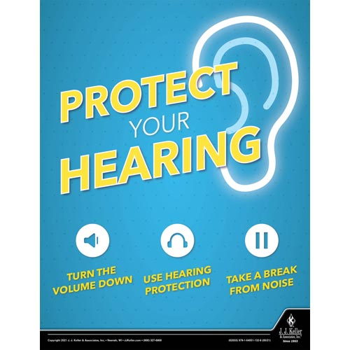 Protect Your Hearing - Health & Wellness Awareness Poster (017685)