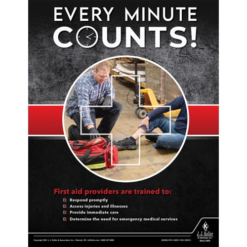Every Minute Counts - Workplace Safety Training Poster (017721)