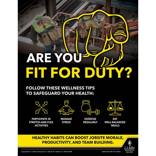 Are You Fit For Duty - Construction Safety Poster (017614)