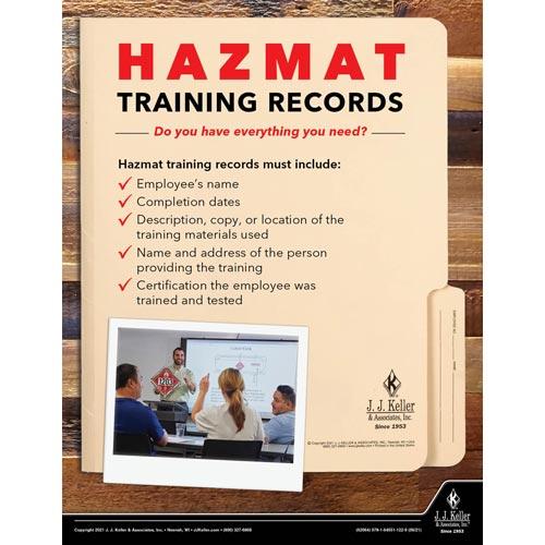 Hazmat Training Records - Hazmat Transportation Poster (017650)