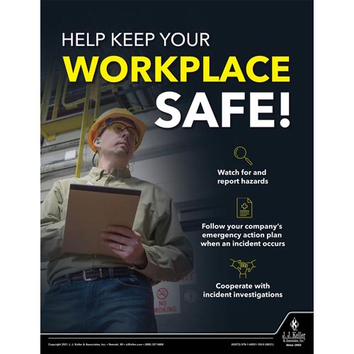 Help Keep Your Workplace Safe - Workplace Safety Training Poster (017722)