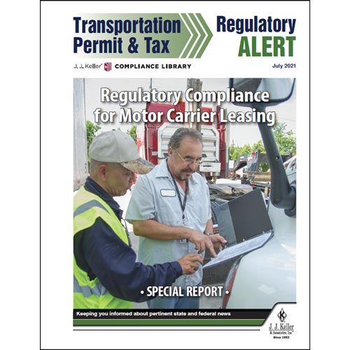 Special Report - Regulatory Compliance for Motor Carrier Leasing (017590)