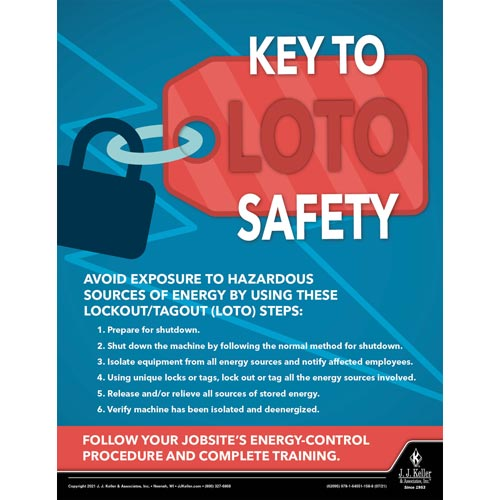 Key to LOTO Safety - Construction Safety Poster (017615)