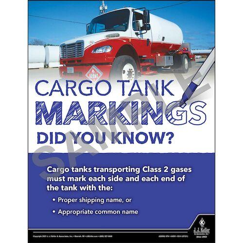 Cargo Tank Markings Did You Know - Hazmat Transportation Poster (017651)