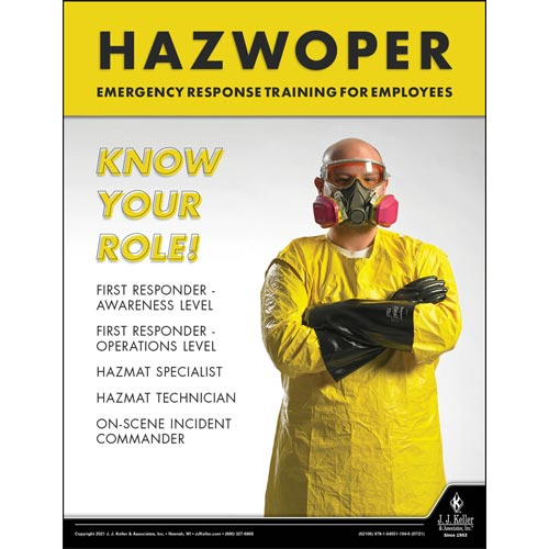 HazWoper Emergency Response Training For Employees - Workplace Safety Training Poster (017723)