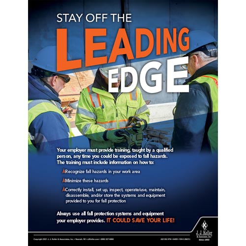 Stay Off The Leading Edge - Construction Safety Poster (017616)