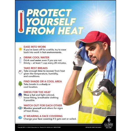 Protect Yourself From Heat - Workplace Safety Training Poster (017604)