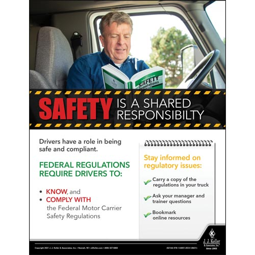 Safety Is A Shared Responsibility - Transport Safety Risk Poster (017712)